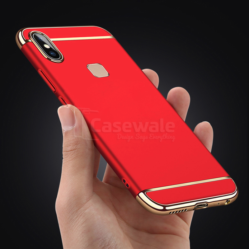 brand new 77940 7a682 Luxury 3 in1 Electroplating Back Case For VIVO V9