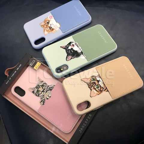 Bella Leather Case by Janesper for iPhone XS