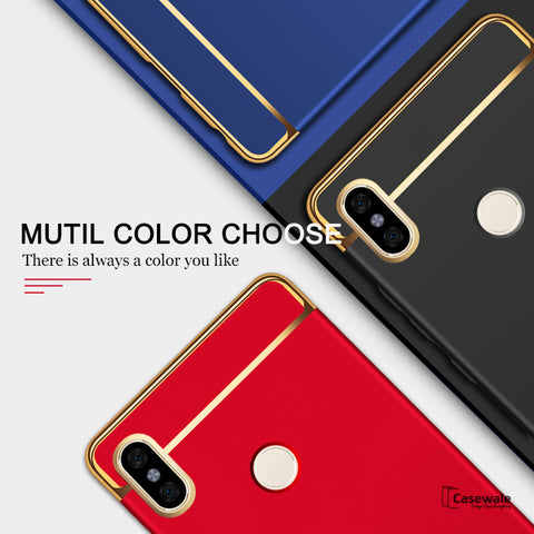Luxury Electroplating 3 in 1 Case for Redmi Note 6 Pro