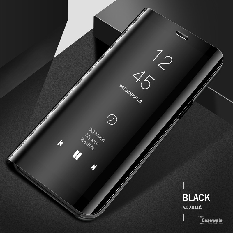 low priced 52fba ec54d Mirror Clear View Touch Flip Case for Galaxy J7 Max