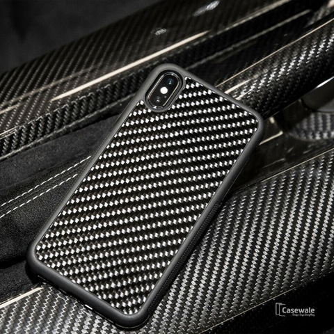Real Carbon Fiber Phone Case for Apple iPhone X