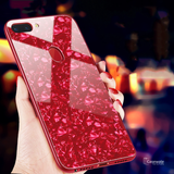 Luxury Marble Pattern Tempered Glass Case for Oppo F9