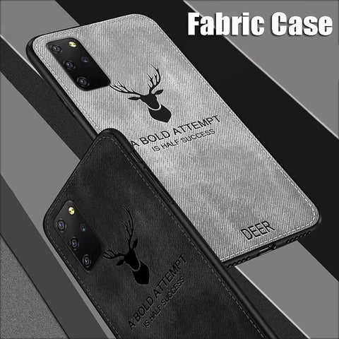 Deer Pattern Inspirational Soft Case for Galaxy S20/ S20 Plus