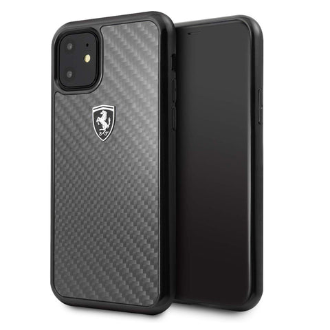 Ferrari Heritage Real Carbon Fiber Hard Case for iPhone 11 Series