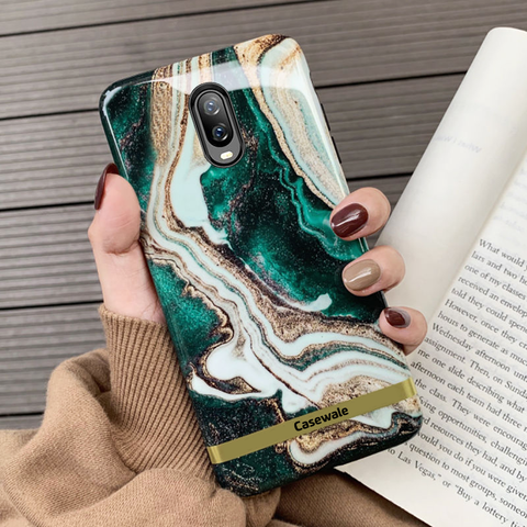 Glossy Agate Luxury Marble Case for OnePlus 6T
