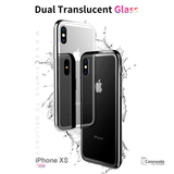 Luxury Crome Series 9H Glass Case for Apple iPhone XS