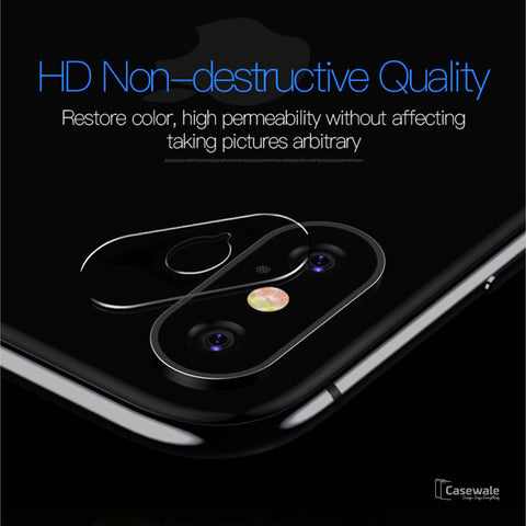 Transparent Camera Lens Screen Protector For iPhone X