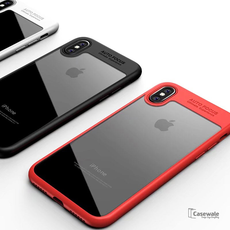sports shoes b6b31 a7efe Full Protective Transparent TPU Auto Focus Case for iPhone X [Best Selling  Case]