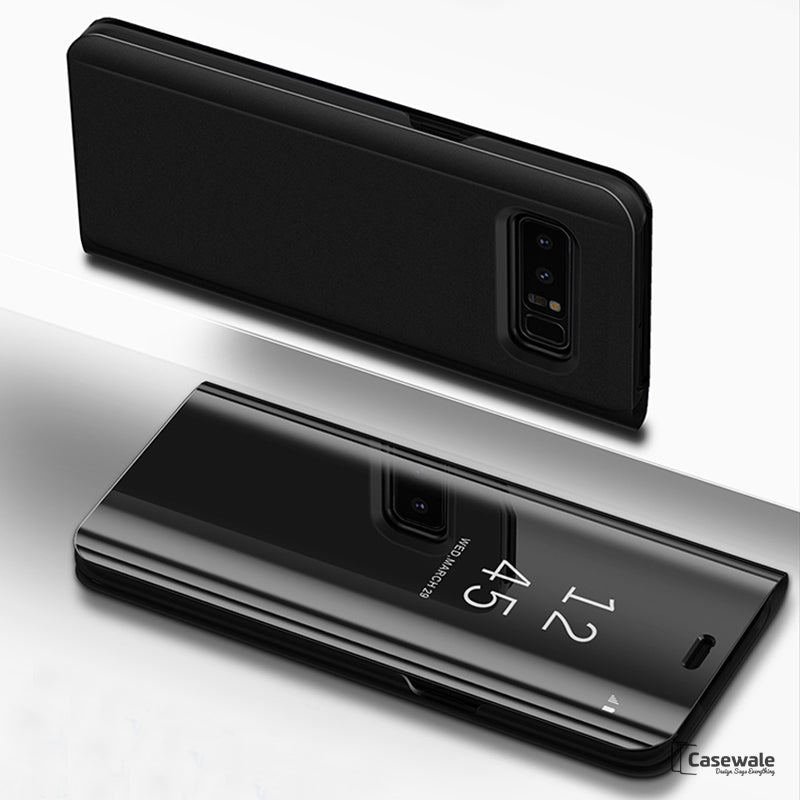 Original Clear View Smart Mirror Flip Case for Galaxy S8/ S8 Plus [Non-Sensor]