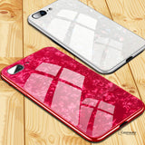 Luxury Marble Pattern Tempered Glass Case for iPhone 6, 7