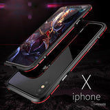 iPhone X Metal Aluminium Dual Color Frame Case
