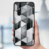 Ashford Color Marble Pattern Glass Case for Vivo V15 Pro