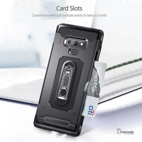 Luxury Armor Hard Card Slot Case For Galaxy Note 9