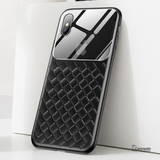 Baseus Tempered Glass Grid Weaving Pattern Case For iPhone XS Max