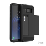 Galaxy S8 & S8 Plus Armor Hard Card Slot Phone Case