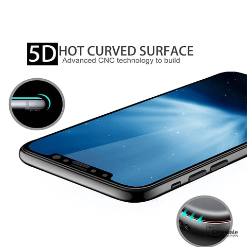 Full Curved Screen Protector for iPhone X 5D Edge Premium Anti-Explosion Tempered Glass