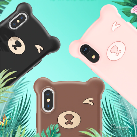 Baseus Soft Silicone Little Bear Case for iPhone X