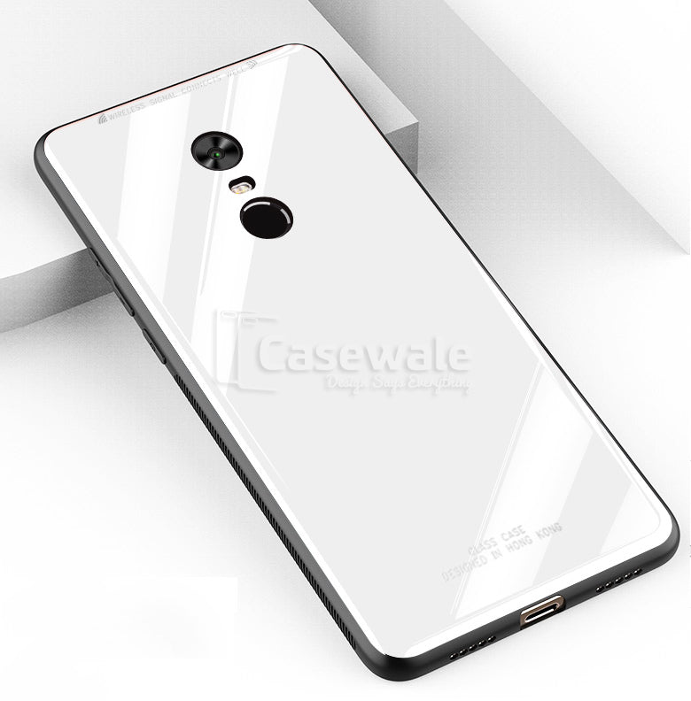 watch 603f7 d7691 Luxury Tempered Glass Hard Back Case For Redmi Note 5