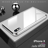 Apple Luxury Crome Series 9H Glass Case for iPhone X