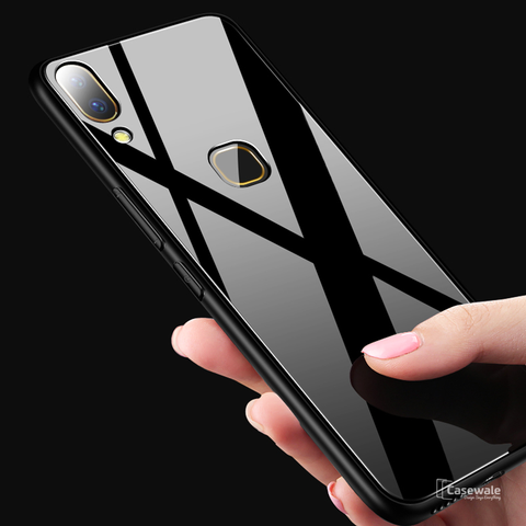 Msvii Luxury Slim Tempered Glass Case for Vivo V9