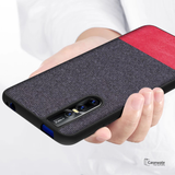 Dual Color Leather + Natural Cloth Texture Case For Vivo V15 Pro