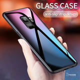Luxury Smooth Tempered Glass Protective Case for Galaxy J6