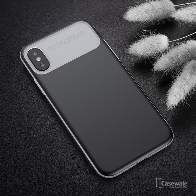 iPhone X Luxury Armor Ultra Thin TPU PC Double Protection Case