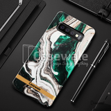 Glossy Agate Luxury Marble Case for Galaxy S10/ S10 Plus