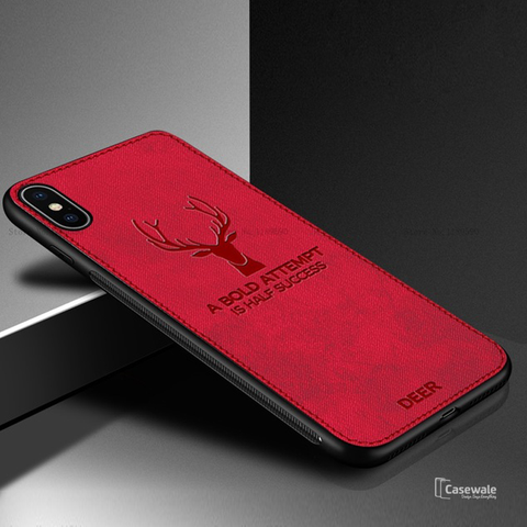 Deer Pattern Inspirational Soft Case for iPhone X
