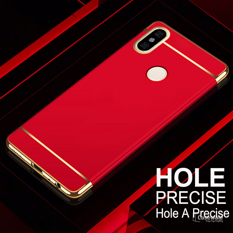 new product 0d53a e35f5 Luxury Electroplating 3 in 1 Case for Redmi Note 5 Pro