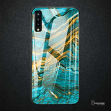 Luxury Artistic Marble Glass Case for Galaxy A50