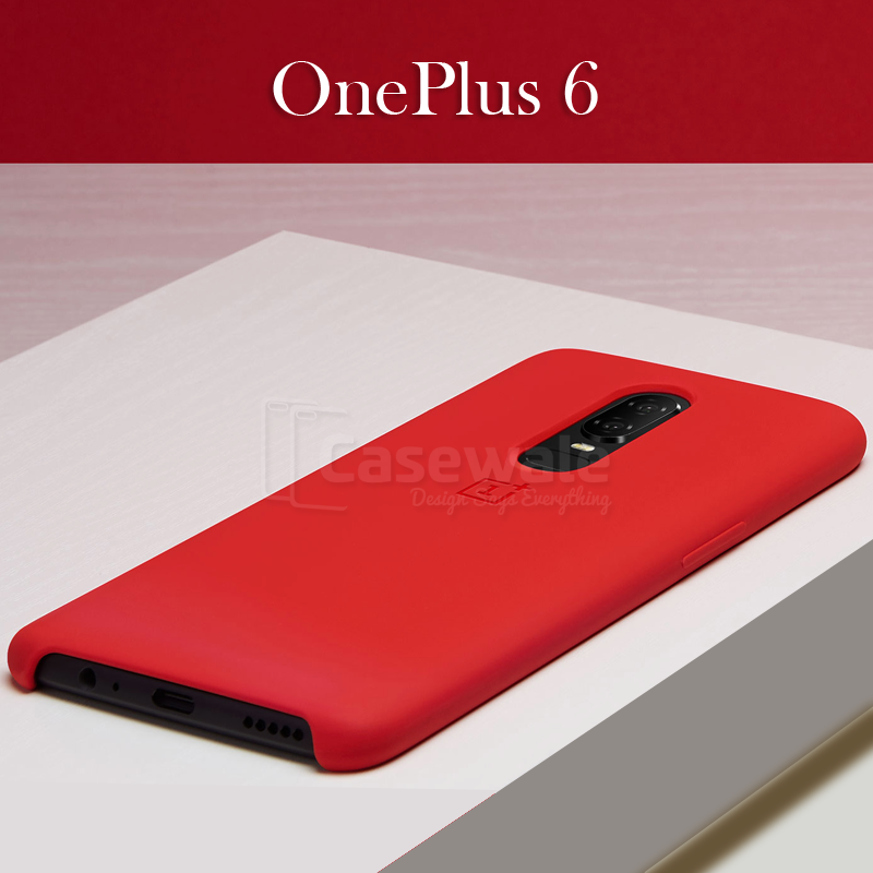 save off f3430 65a7a Original Slim Silicone Protective Case for OnePlus 6