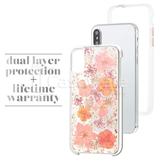 Original Flash Foil Petals Genuine Flower Case for iPhone X
