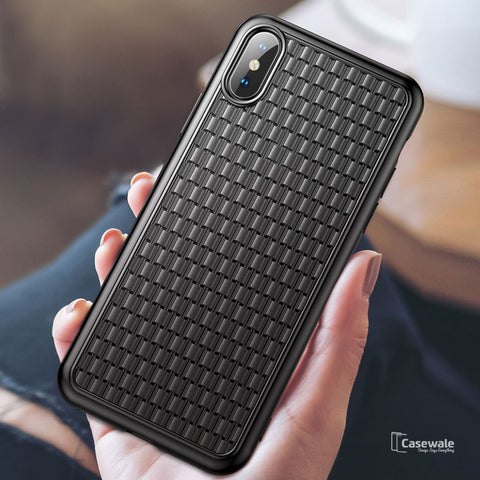 Baseus Luxury Grid Pattern Protective Case For iPhone XS