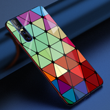 Adobe Color Marble Pattern Glass Case for Vivo V15