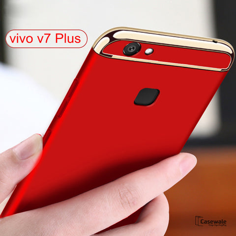 Luxury Electroplating 3 in 1 Case for Vivo V7/ V7 Plus