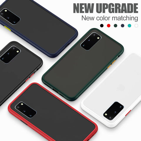 Anti-knock Armor Transparent Matte Case for Galaxy S20/ S20 Plus