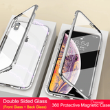 Double Sided Magnetic Glass Case for iPhone XR