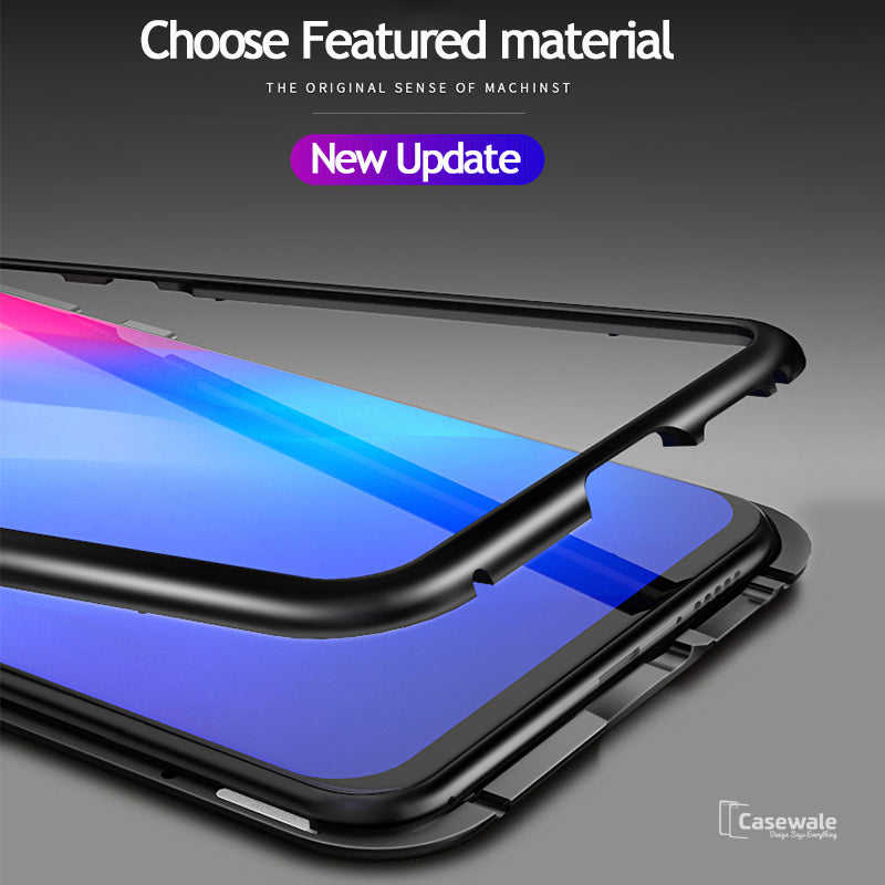 info for 50a08 2732b Electronic Auto-Fit Magnetic Glass Case for Redmi Note 5 Pro