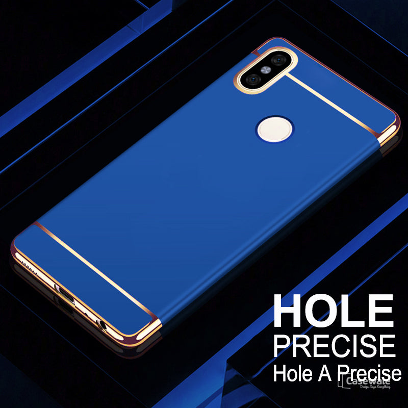 low priced 2386e 9d2cb Luxury Electroplating 3 in 1 Case for Redmi Note 6 Pro