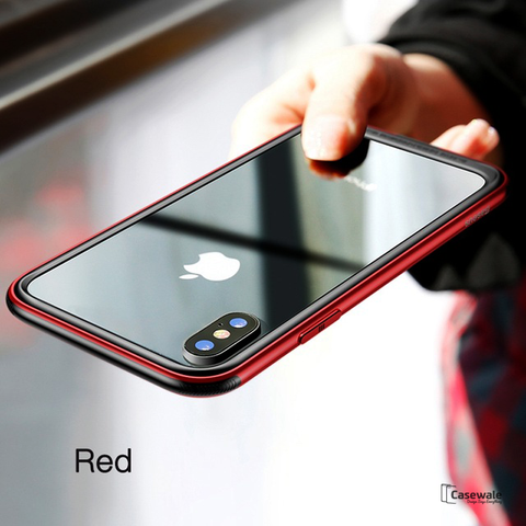 Baseus Aluminum Alloy Metal Bumper Case For iPhone X
