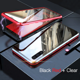 LUPHIE Double Glass 2nd Generation Magnetic Glass Case for Galaxy A50 [100% Satisfation Guaranteed]