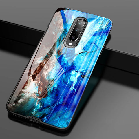 Luxury Artistic Marble Glass Case for OnePlus 7 / 7 Pro