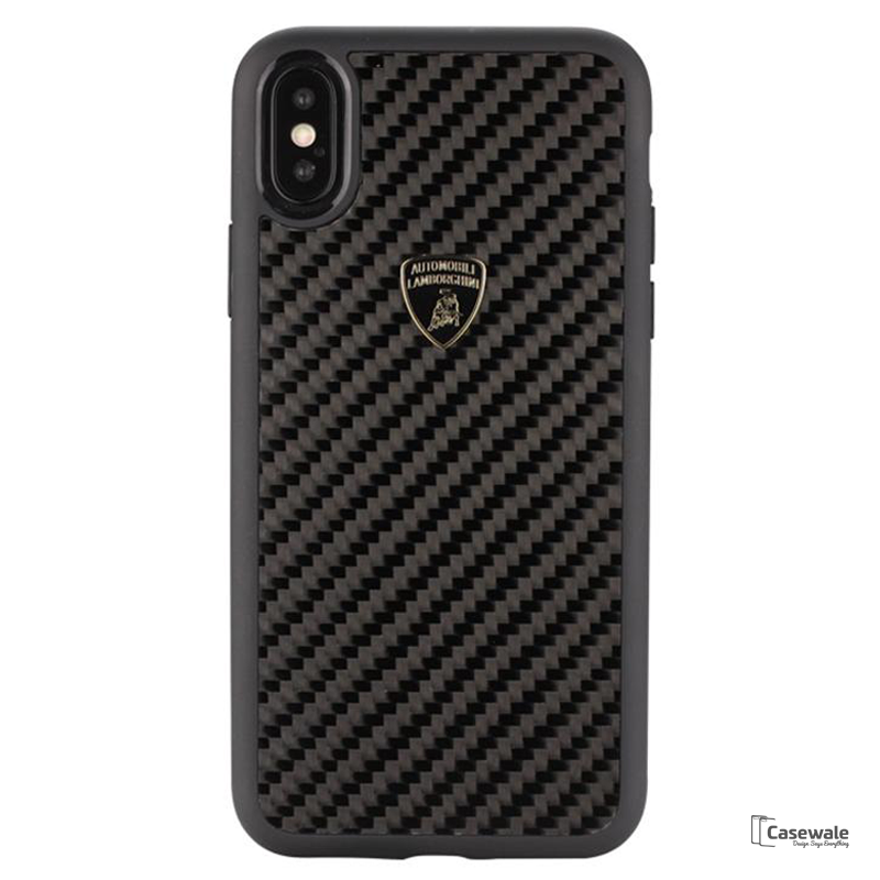 Lamborghini Carbon Fiber Phone Case for Apple iPhone X