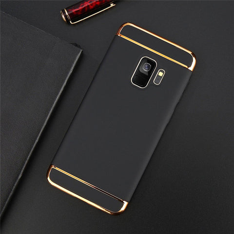 Electroplating Luxury 3 in 1 Case for Samsung Galaxy A6