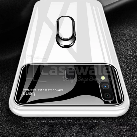 Luxury Mirror Effect Ring Bracket Case for Galaxy M20