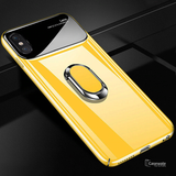 Mirror Effect Ring Bracket Lens Case for iPhone XS