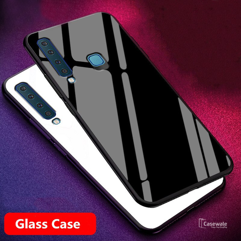 Smooth Tempered Glass Case for Galaxy A9 2018