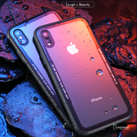 Luxury Gorilla Glass Transparent Glass Case For iPhone XR [Best Selling Case]