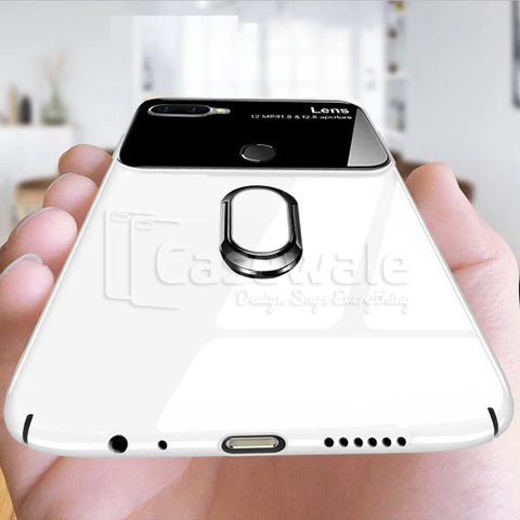 Luxury Mirror Effect Ring Bracket Case for Oppo F9 Pro